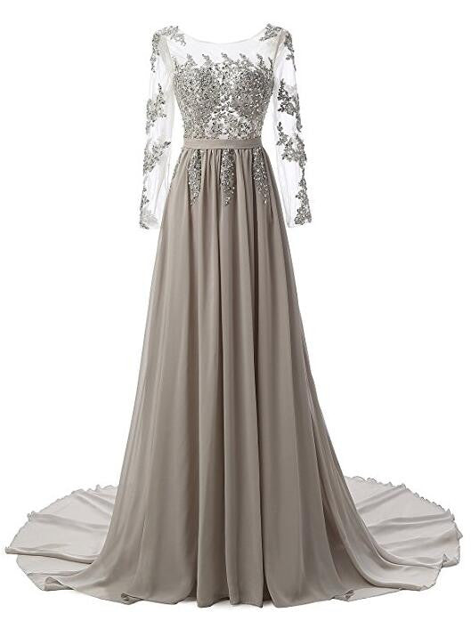 Applique Beading Prom Dresses,Long Formal Dress SP1158