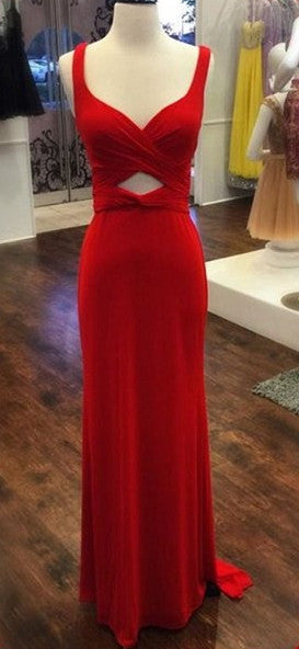 Sex Fashion Red Prom Dress , Long Formal Dress SP2069