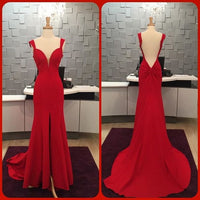 Fashion Red Prom Dress , Long Formal Dress SP2070