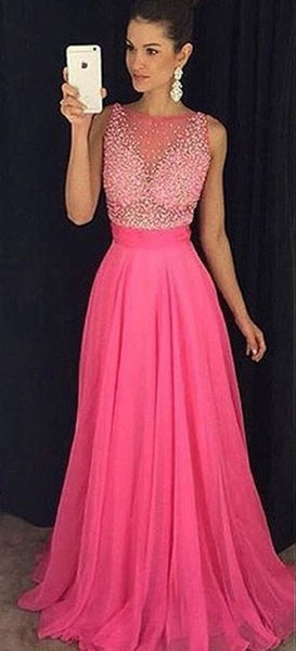 Popular Beaded Prom Dress, Long Formal Dress SP2076