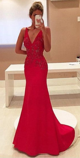 Fashion Mermaid Prom Dress, Long Formal Dress SP2079