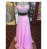 Beading Prom Dresses,Two Piece Long Party Dress SP3006