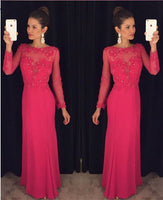 Long Sleeves Prom Dresses, Long Party Dress SP3019