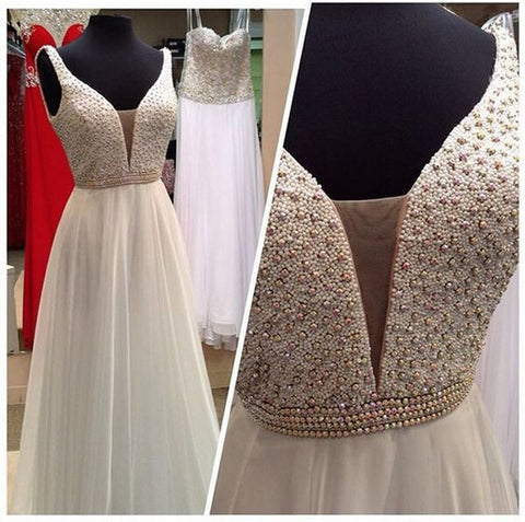 Beading Prom Dresses, Long Wedding Party Dress SP3021