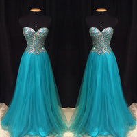 Strapless Fashion Prom Dresses, Beading Long Party Dress SP3029