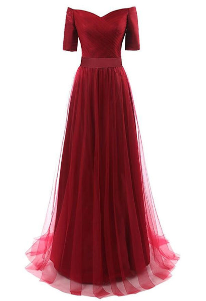 Tulle Prom Dresses, Long Party Dress SP3032