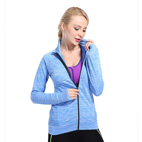 Lightweight front zip sweatshirt