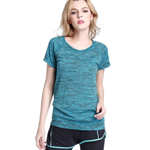 Soft short sleeve workout top