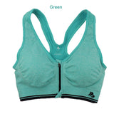 Sports bra with zip front