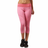 Stretchy yoga capri with rear zip pocket