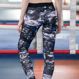 Splatter print yoga pants