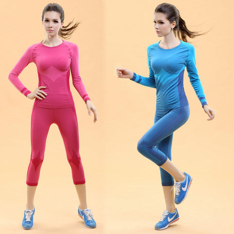 Long Sleeve Tight Fit Tee and Leggings Set