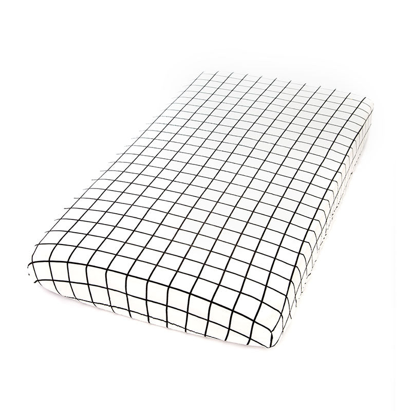 POLKA Fitted Sheet Black & White