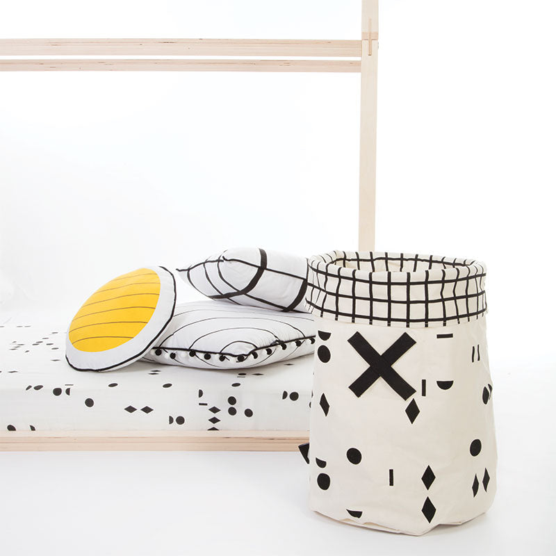 Black & White OLÉ Toy Hamper, by Gautier Studio