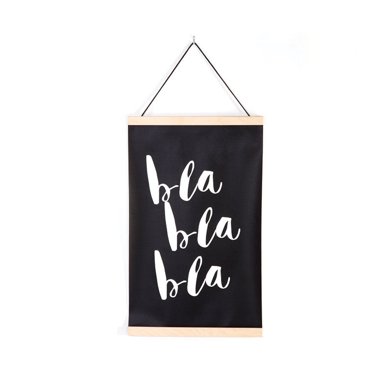 Canvas wall hanging BLA BLA