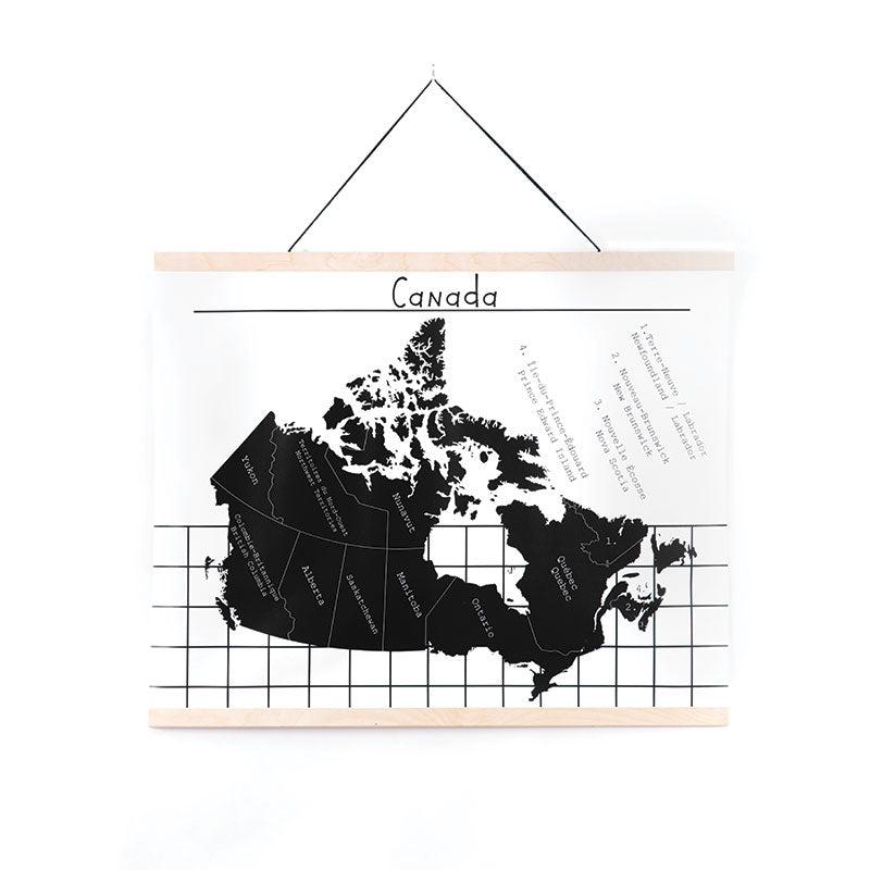 Canada Map, Canvas Wall Hanging, by Gautier Studio