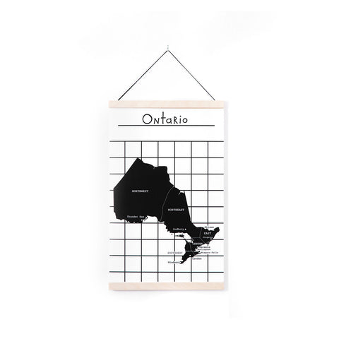 Canvas Wall Hanging - Map of Canada