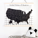 Canvas Wall Hanging - Map of the USA