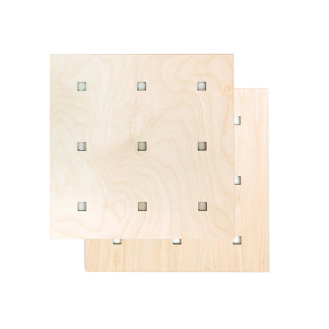 CARAMBA Pegboard - Natural Wood