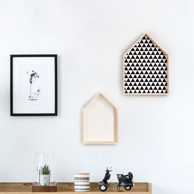 DECORATIVE HOUSE SHELVES