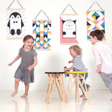 Canvas wall hanging Penguin