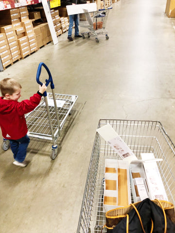 ikea visit with toddler
