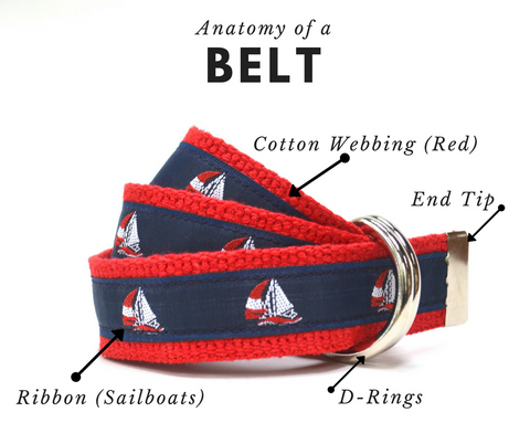 Child belt with sailboats