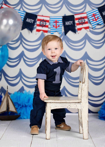nautical first birthday baby boy