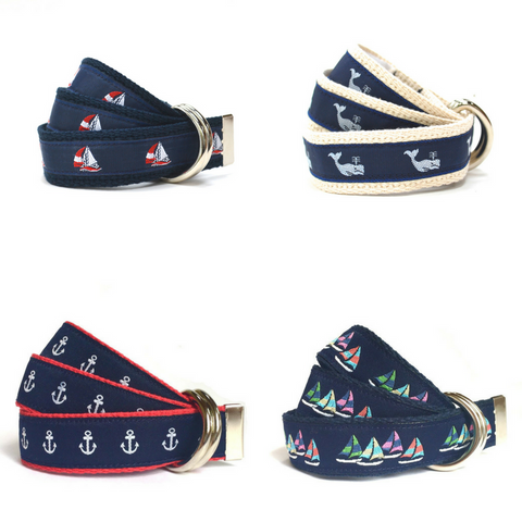 nautical ribbon belts for kids