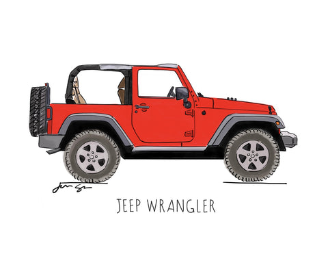 mack and ro illustrations jeep print
