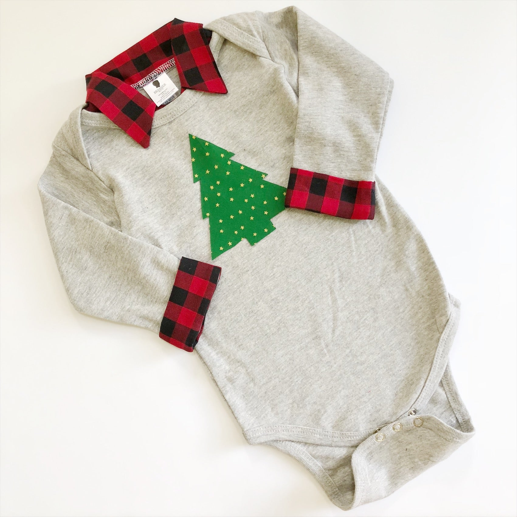 Buffalo Plaid Christmas Outfit Baby Boy Christmas Outfit Brimmer Boys