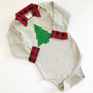 Buffalo Plaid Christmas Outfit - Baby Boy Christmas Outfit