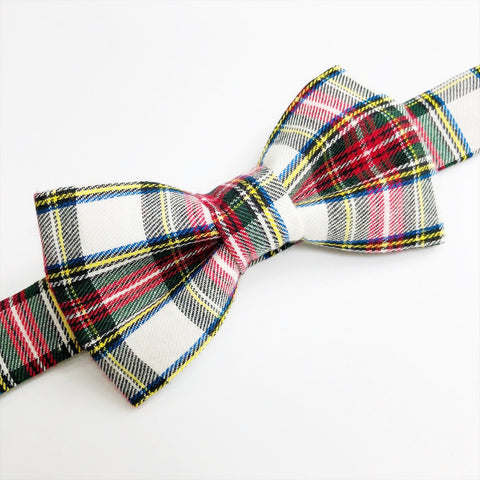Red Stewart Plaid Bow tie