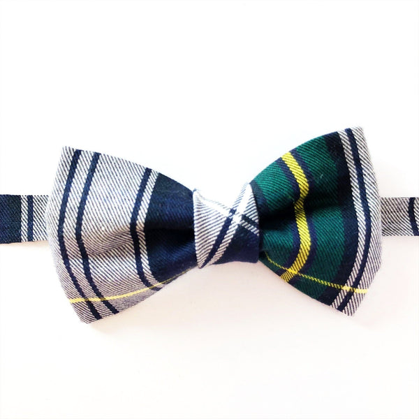 blue and green bow tie for children