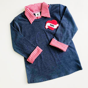Boy Valentine's Day Outfit with Mom Heart