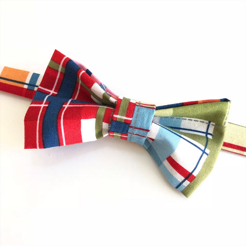 madras bow tie for little boy