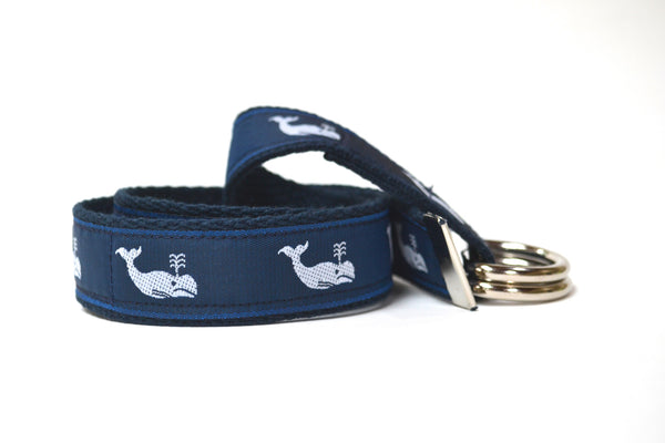 Adult Whale Belt - Navy