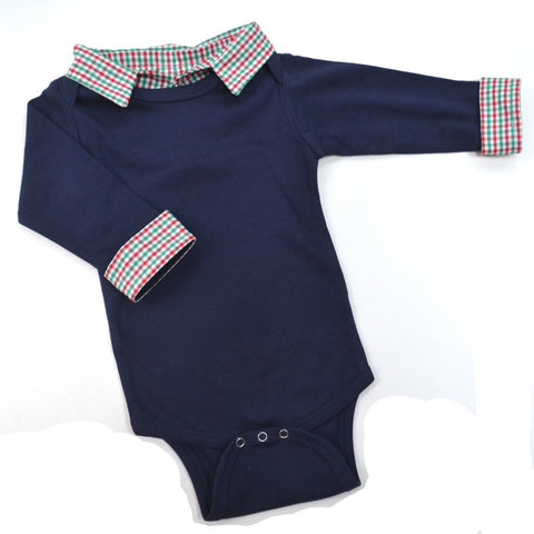 Christmas Outfit - Baby Boy Christmas Outfit, Red and Green Check