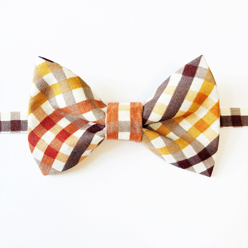 Thanksgiving Plaid Bow Tie