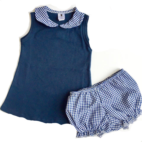 Baby Girl Dress with Peter Pan Collar