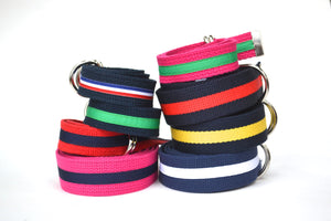 Child Stripe Belt - Green and White Stripe
