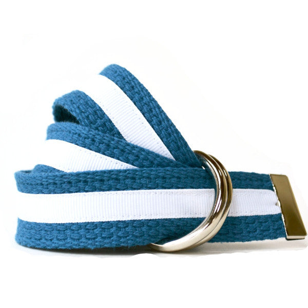 Women's Stripe Belt - Blue and White Stripe