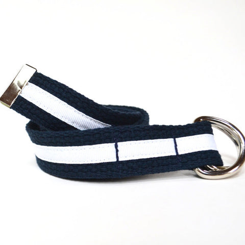 Child Stripe Belt - Navy and White Stripe