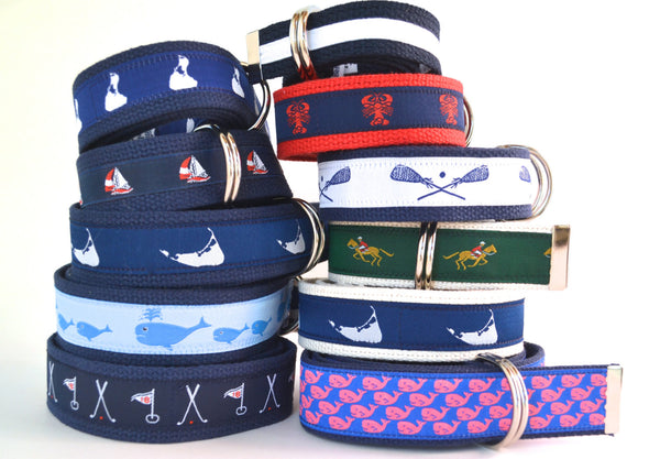 Whale Belt, Mens Canvas Belt