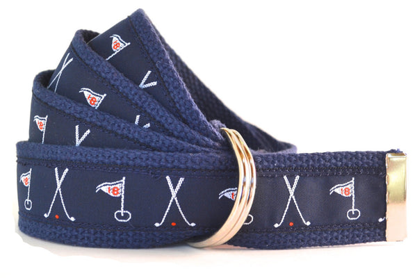 Golf belt navy blue
