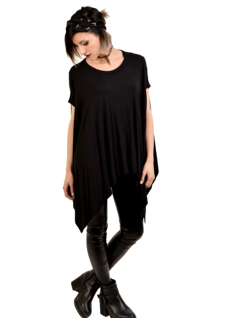 dark billows over sized tunic top