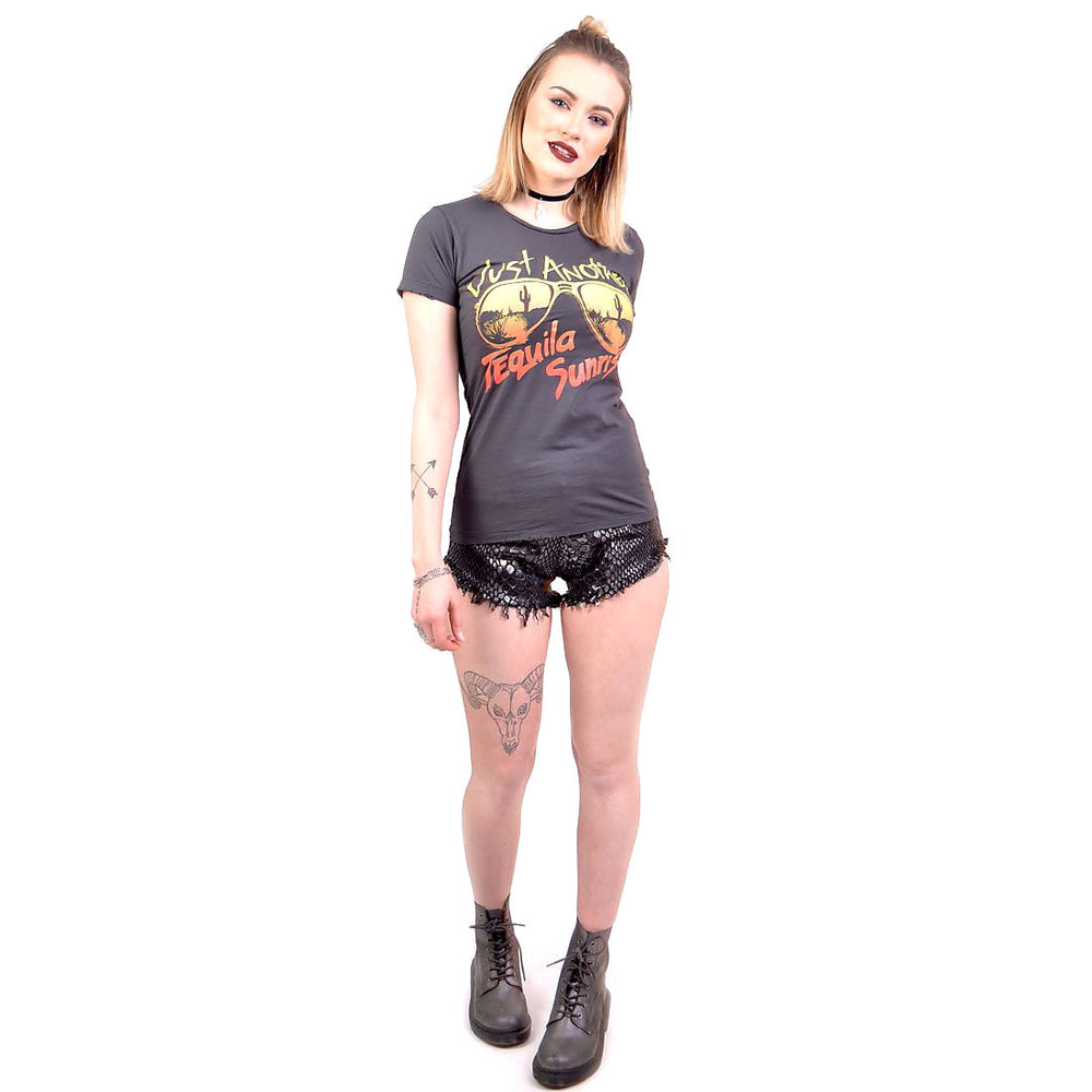just another tequila sunrise vintage graphic tee for women by bandit brand