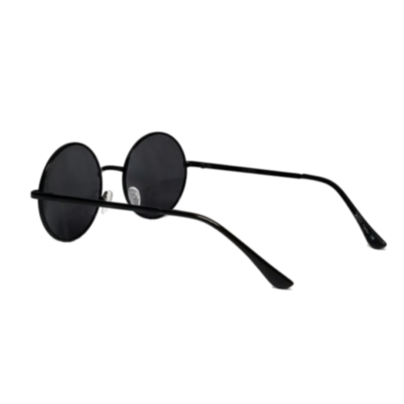 circular metal frame sunglasses with round lennon lens