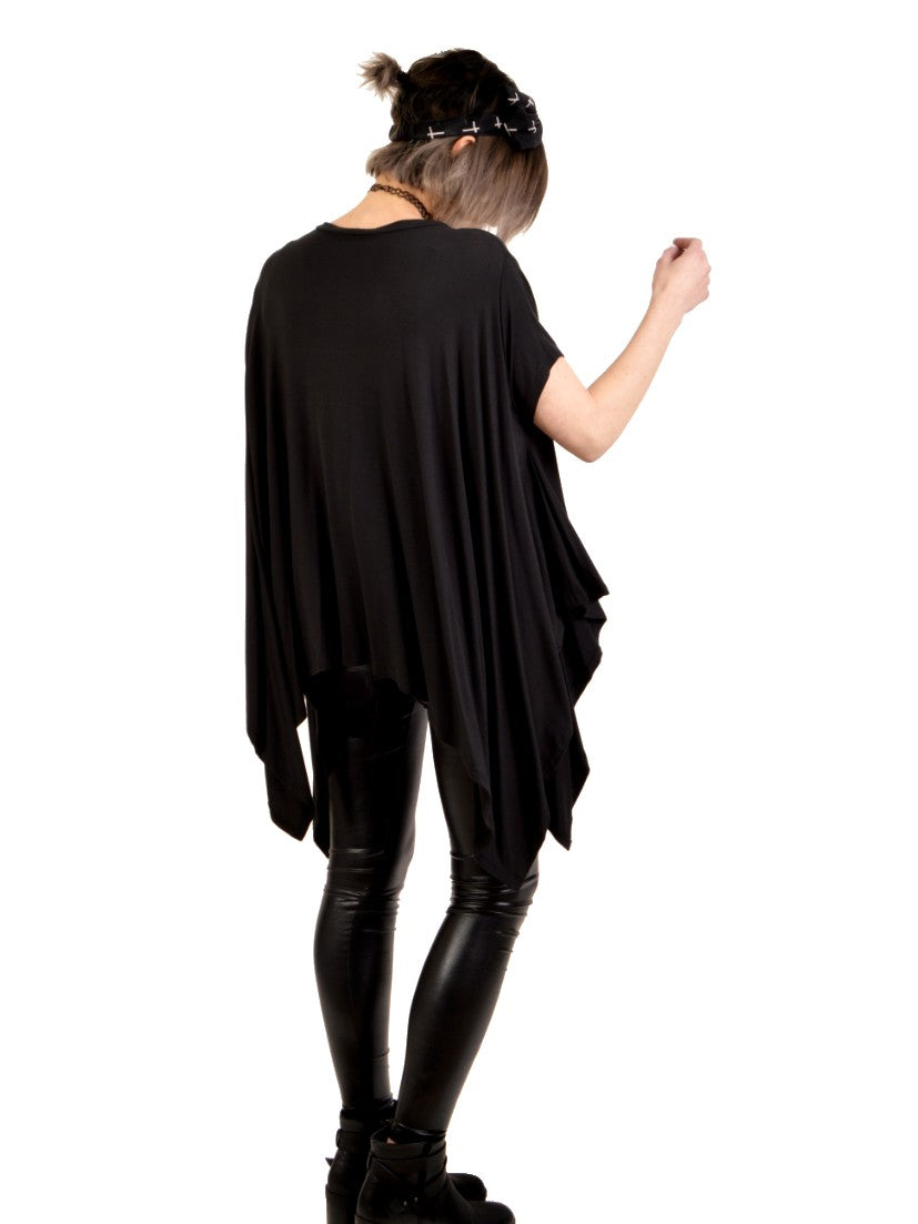 dark billows over sized tunic top back