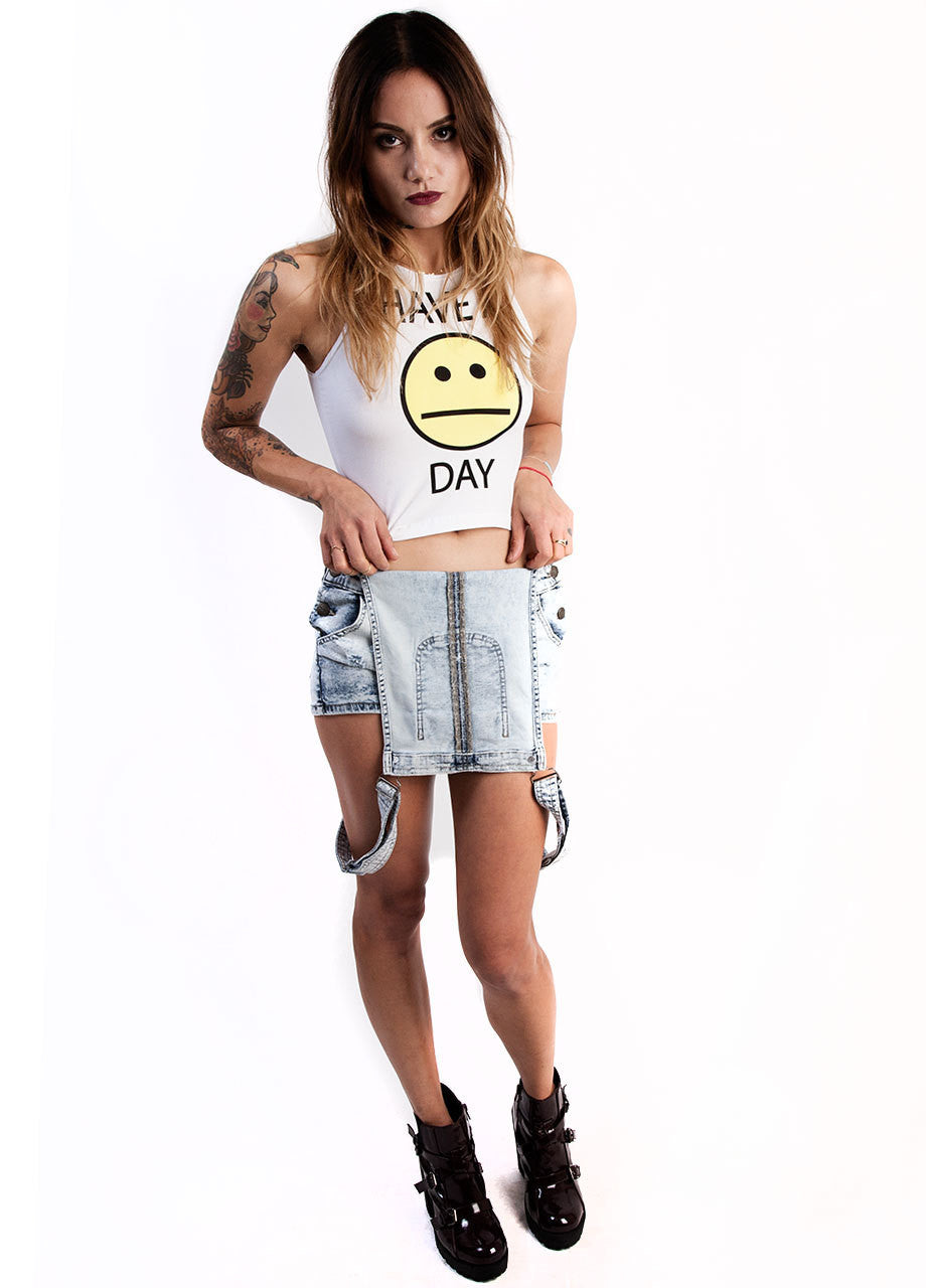 MYVL Have A Blah Day Sleeveless Crop